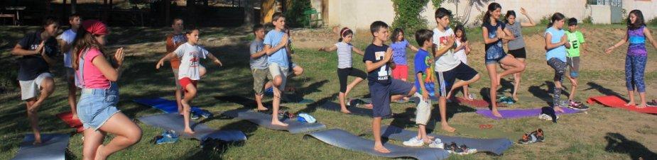 Sesión de yoga web