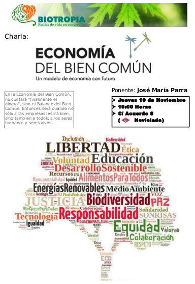 Charla sobre Economía del Bien Común